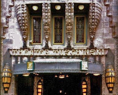 Tuschinski Theatre outside window