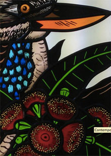 Peacock in Stained Glass