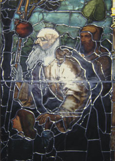 Images stained glass panel