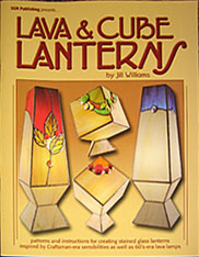 Books about making stained glass lamp shades uk stained glass lava cube lanterns by jill williams aloadofball Gallery
