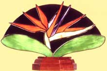 Bird of Paradise Fan Lamp