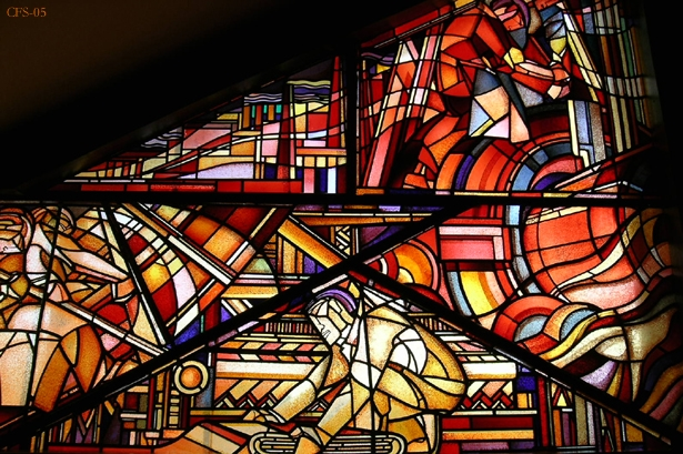 stained glass panel at the Hague