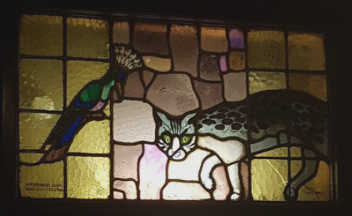 Cat in stained glass
