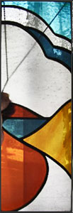 Copyright Pewtermoonsilver stained glass