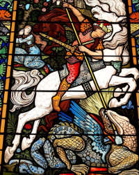 St George in stained glass